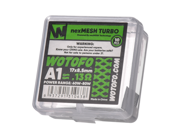 Wotofo Verdampfer nexMESH Turbo A1 Coil 0,13 Ohm - 10er Packung
