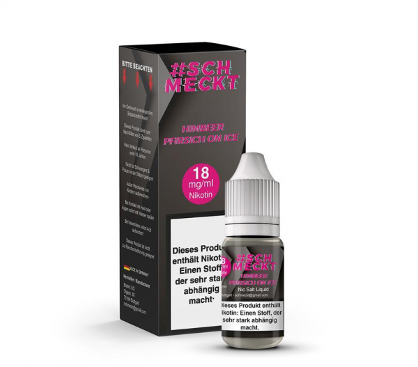 #schmeckt Nikotinalz Himbeer Pfirsich on ICE 18mg/ml - 10ml