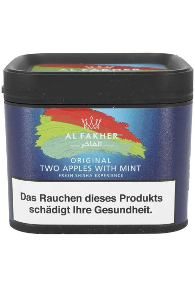 Al Fakher Tabakersatz TWO APPLES WITH MINT - 200g