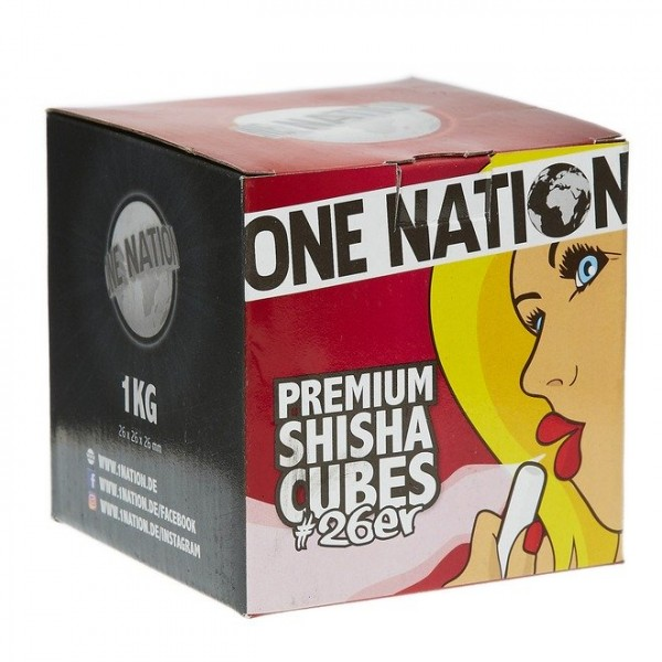 One Nation Premium Shishacubes 26er - 1kg
