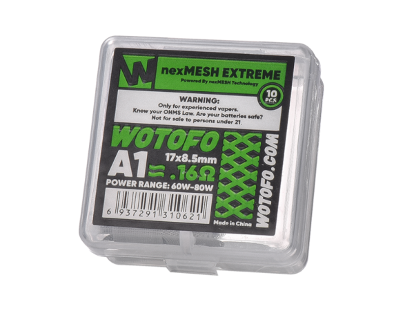 Wotofo Verdampfer nexMESH Extreme A1 Coil 0,16 Ohm - 10er Packung